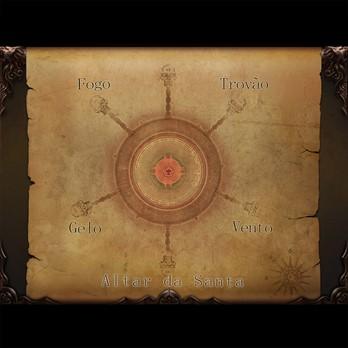 Mapa com visão geral do desafio Correntes Elementais