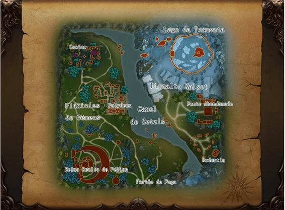 Visão geral do mapa da Batalha da Sobrevivência