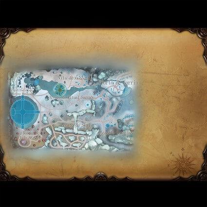 Visão parcial do mapa do Reino do Norte